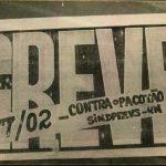 Cartão da Paralisação - 07/02/91